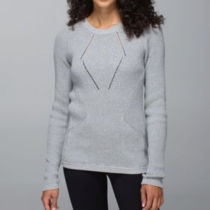 Lululemon Gray The Sweater The Better Sweater Sz 4